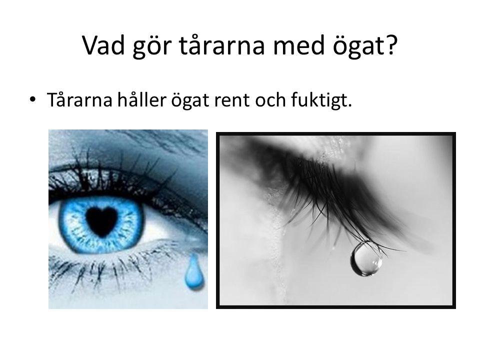 Vad gör tårarna med ögat