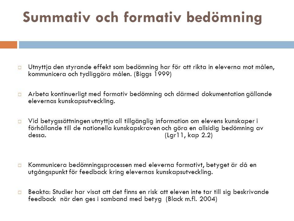 Summativ och formativ bedömning