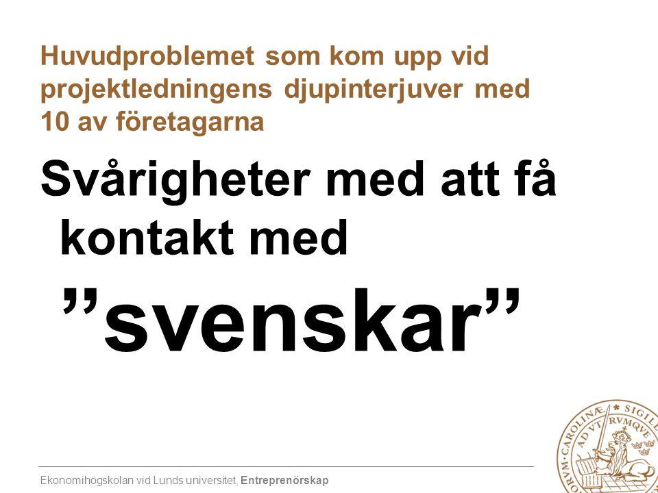 Svårigheter med att få kontakt med svenskar