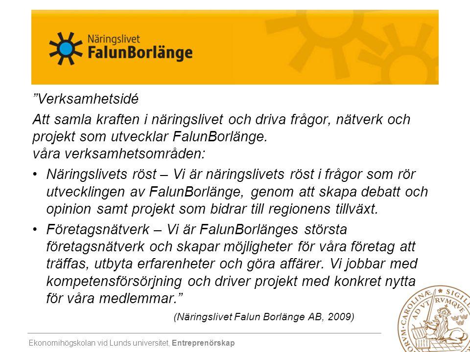 Verksamhetsidé Att samla kraften i näringslivet och driva frågor, nätverk och projekt som utvecklar FalunBorlänge. våra verksamhetsområden: