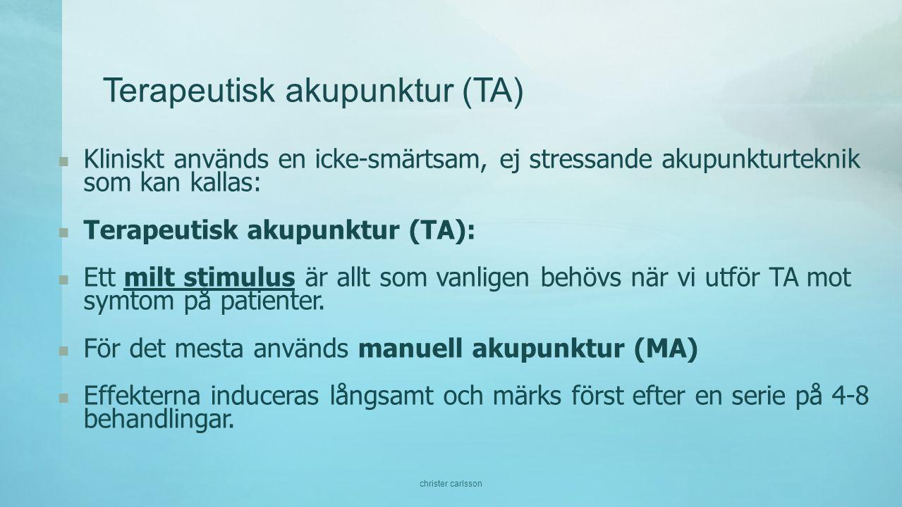 Terapeutisk akupunktur (TA)