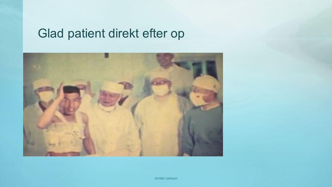 Glad patient direkt efter op