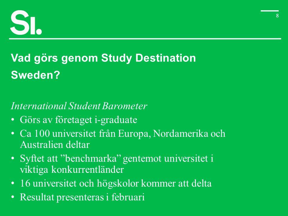 Vad görs genom Study Destination Sweden