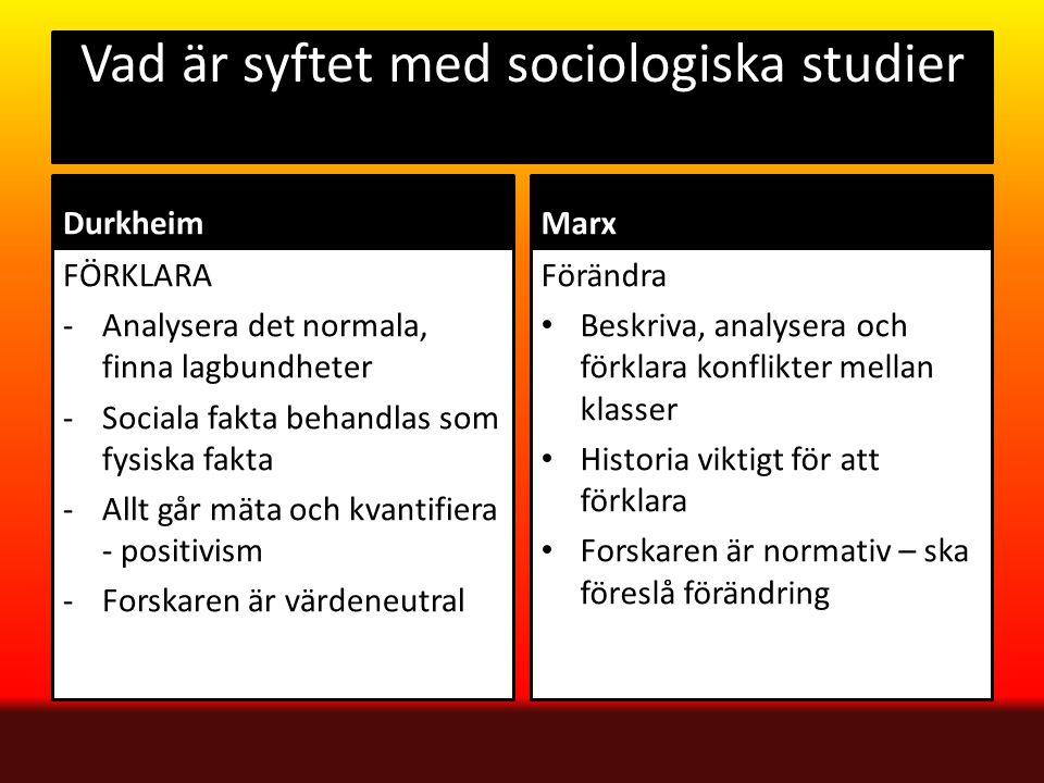 Vad är syftet med sociologiska studier