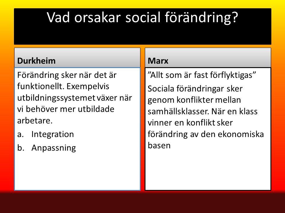 Vad orsakar social förändring