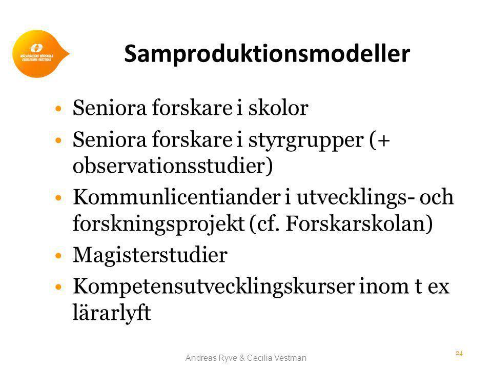 Samproduktionsmodeller