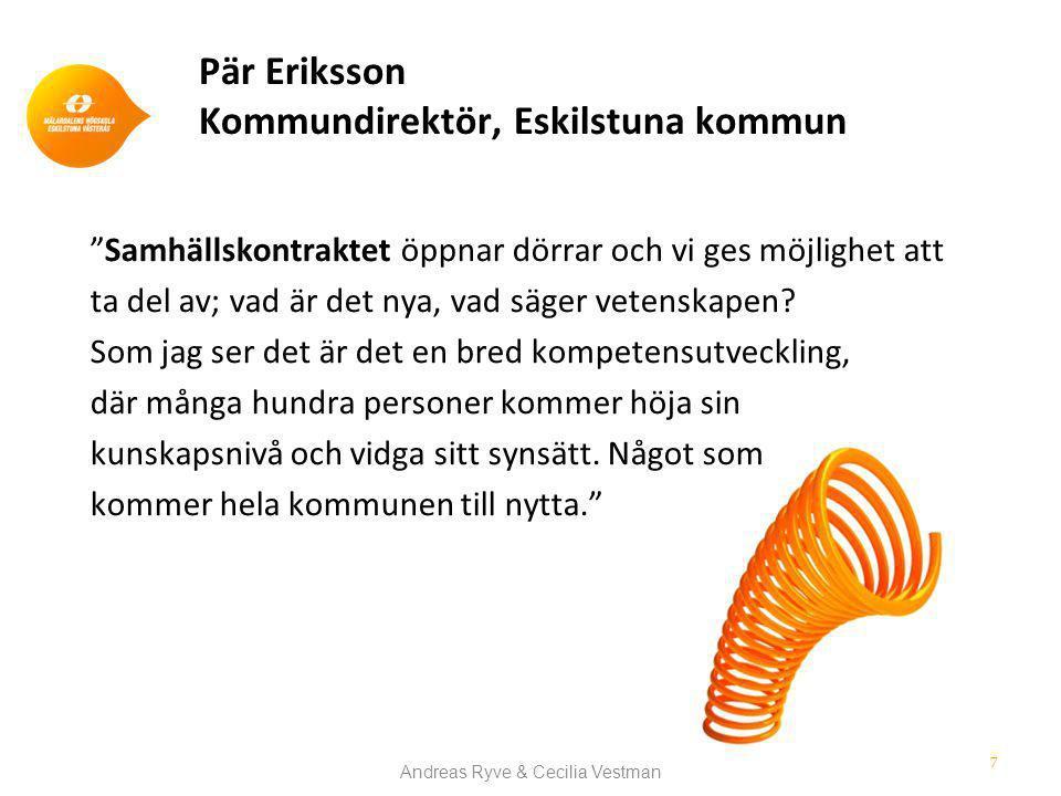 Pär Eriksson Kommundirektör, Eskilstuna kommun