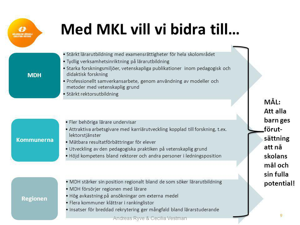 Med MKL vill vi bidra till…