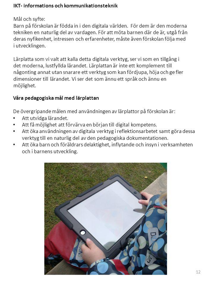 IKT- informations och kommunikationsteknik