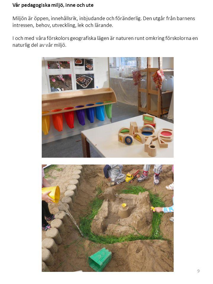 Vår pedagogiska miljö, inne och ute