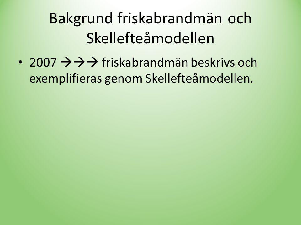 Bakgrund friskabrandmän och Skellefteåmodellen