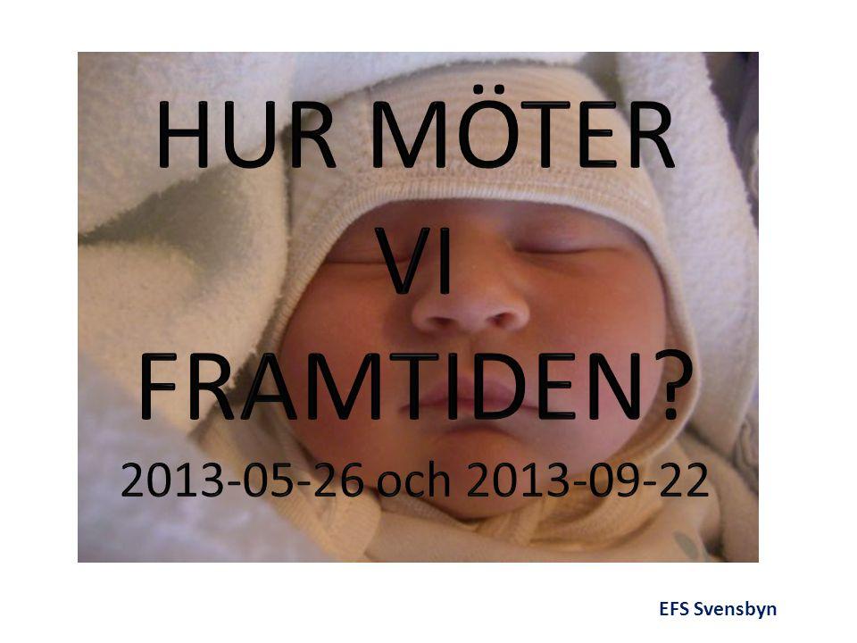 HUR MÖTER VI FRAMTIDEN 2013-05-26 och 2013-09-22 EFS Svensbyn