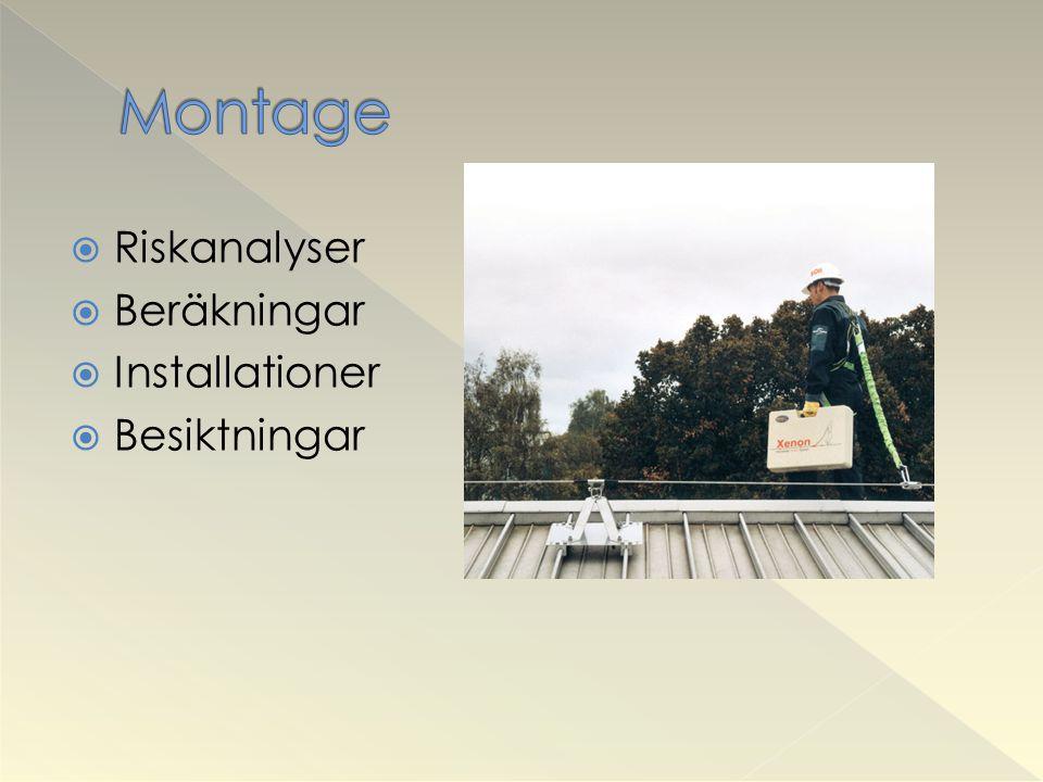 Montage Riskanalyser Beräkningar Installationer Besiktningar