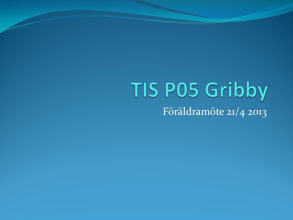 TIS P05 Gribby Föräldramöte 21/4 2013