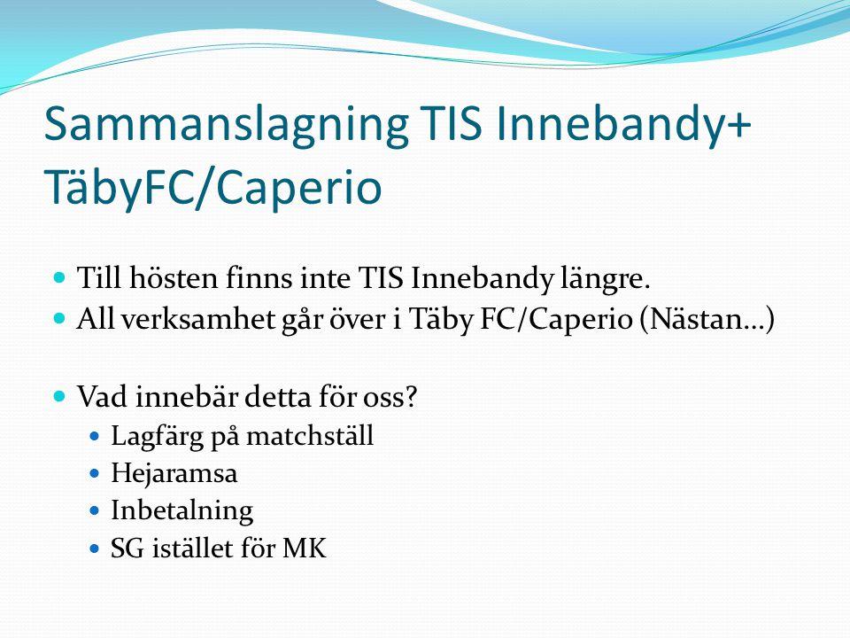 Sammanslagning TIS Innebandy+ TäbyFC/Caperio