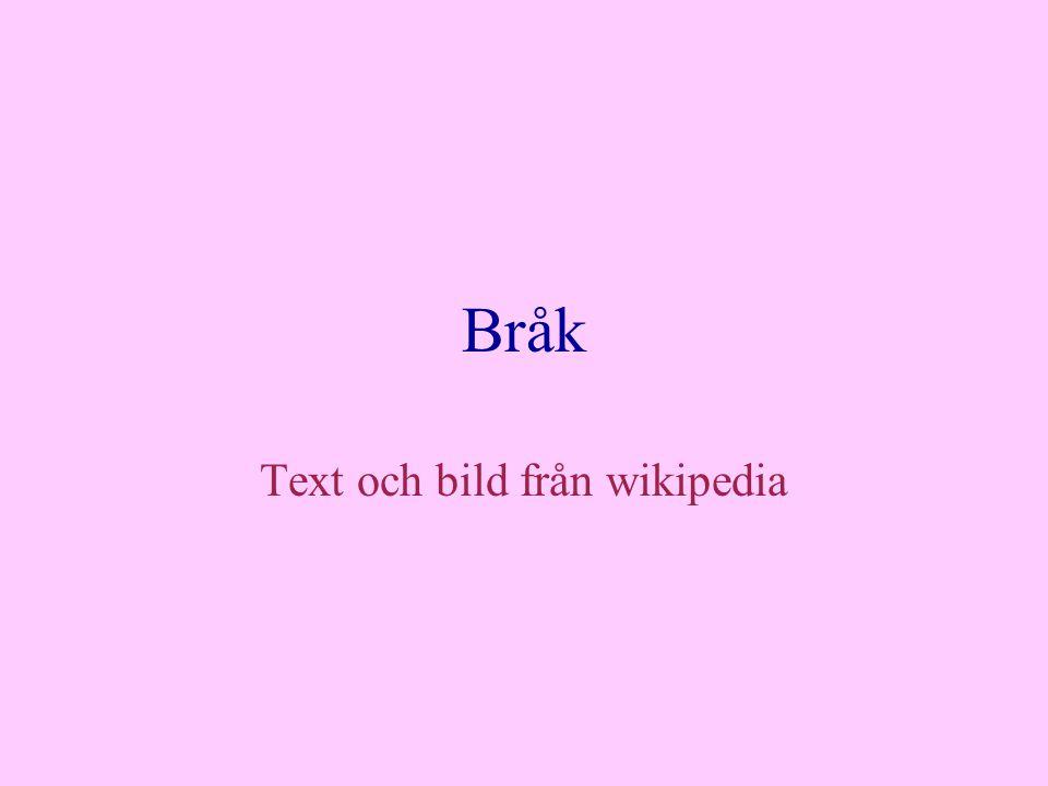 Text och bild från wikipedia