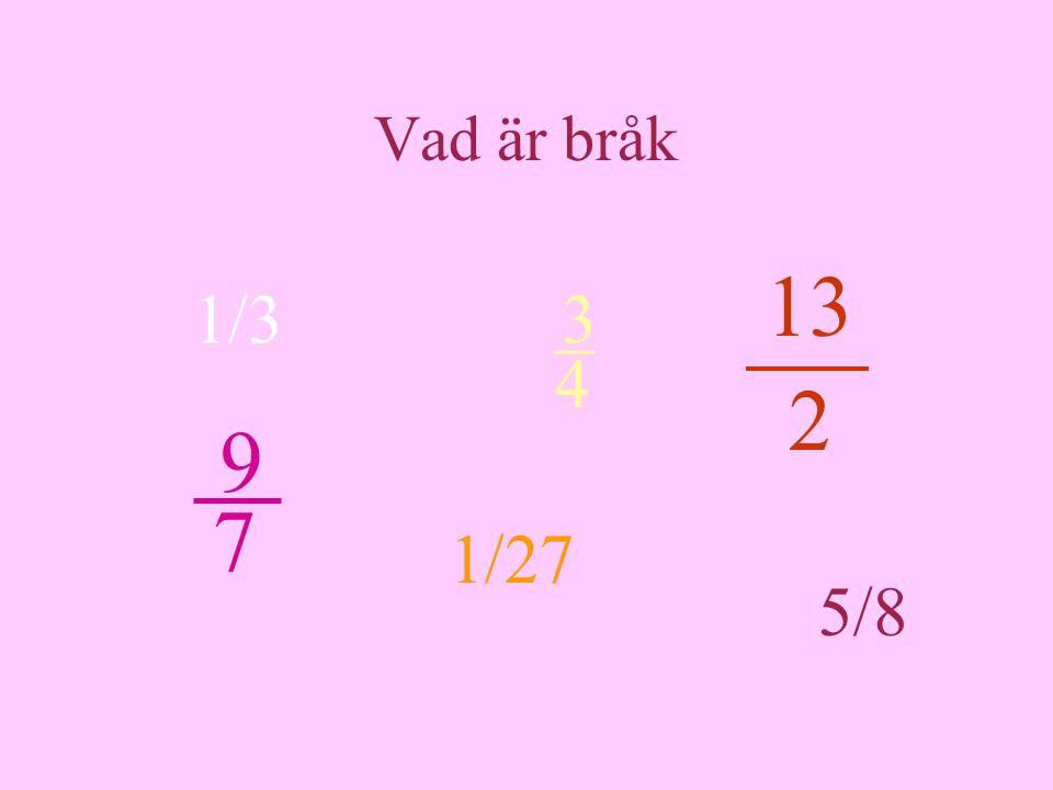 Vad är bråk 13 2 3 _ 4 1/3 9 7 1/27 5/8