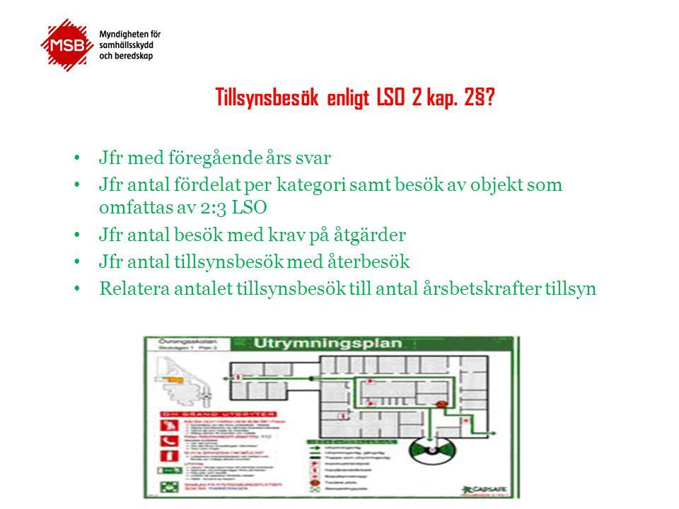 Tillsynsbesök enligt LSO 2 kap. 2§