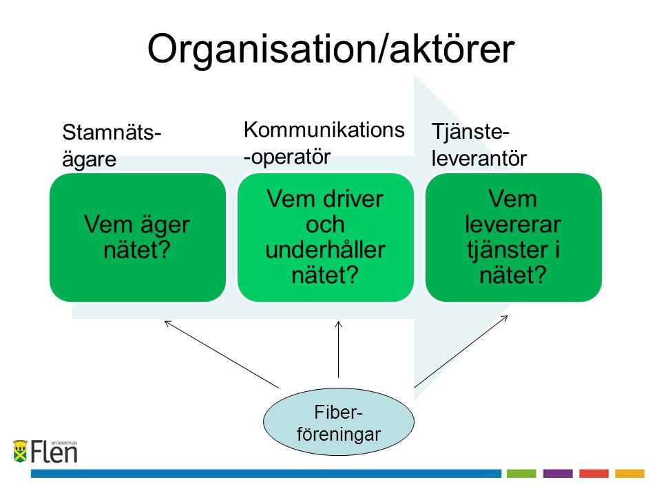 Organisation/aktörer