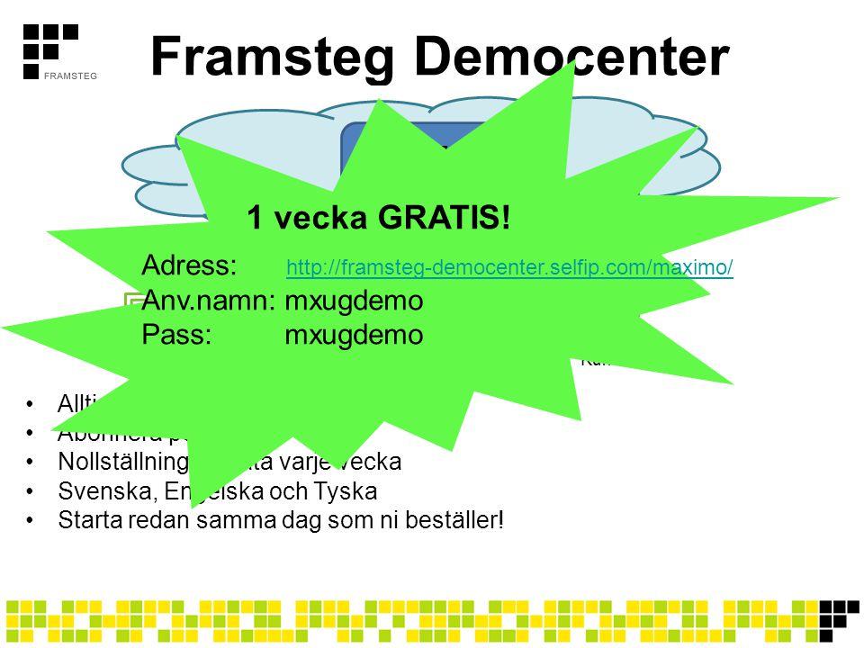 Framsteg Democenter 1 vecka GRATIS!