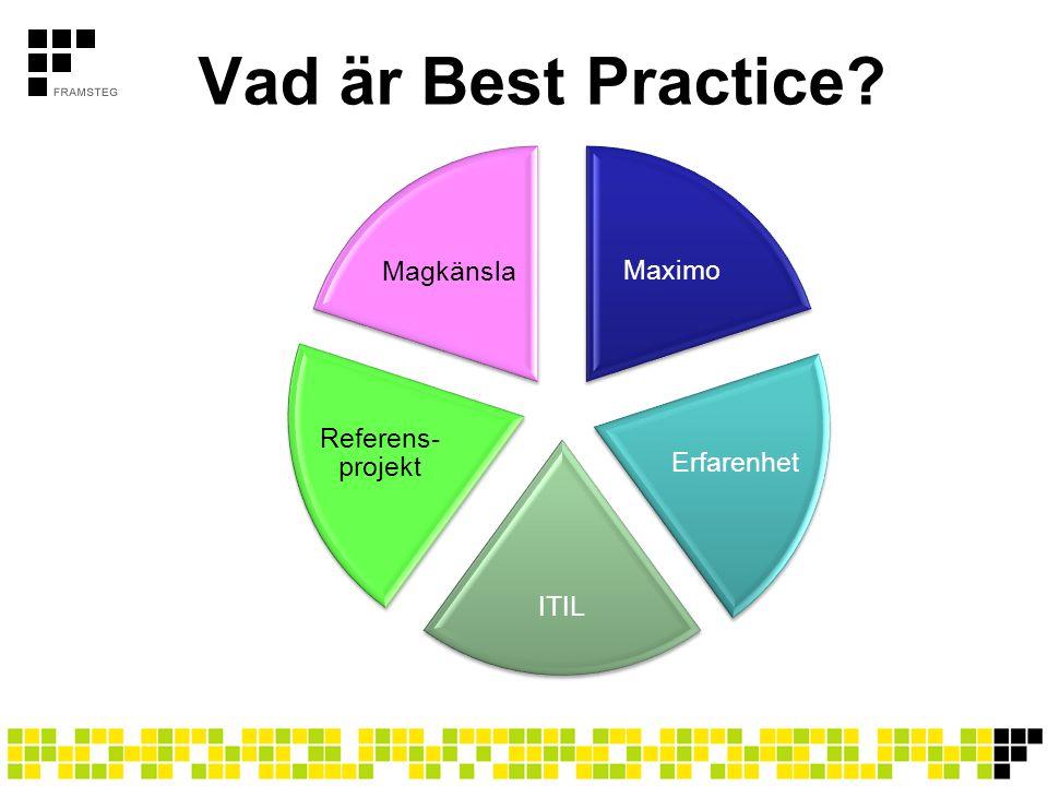 Vad är Best Practice Magkänsla Maximo Referens-projekt Erfarenhet