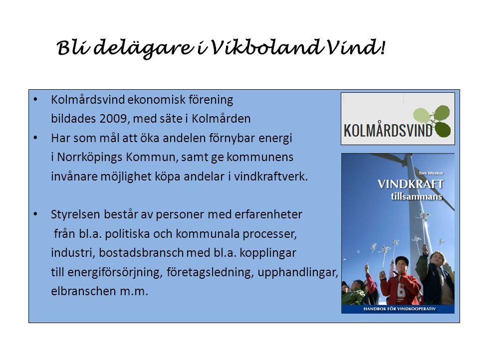 Bli delägare i Vikboland Vind!