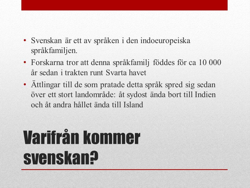 Varifrån kommer svenskan