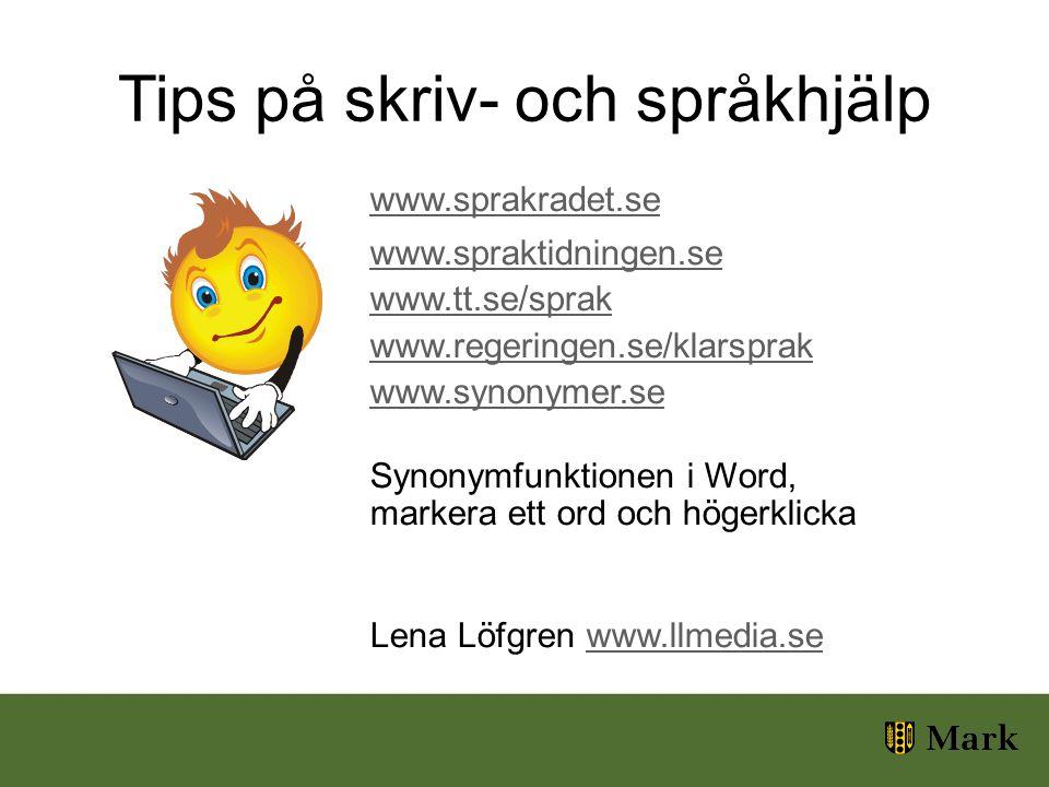 Tips på skriv- och språkhjälp