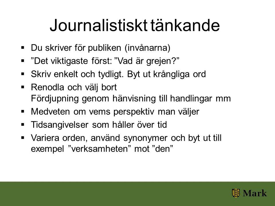 Journalistiskt tänkande