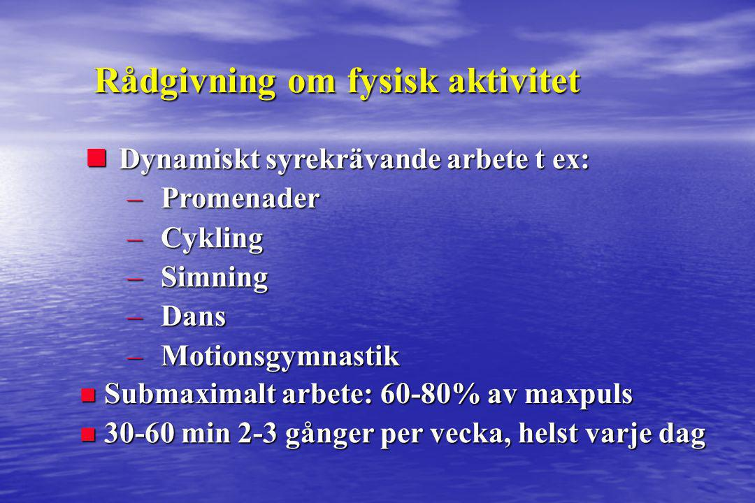 Rådgivning om fysisk aktivitet