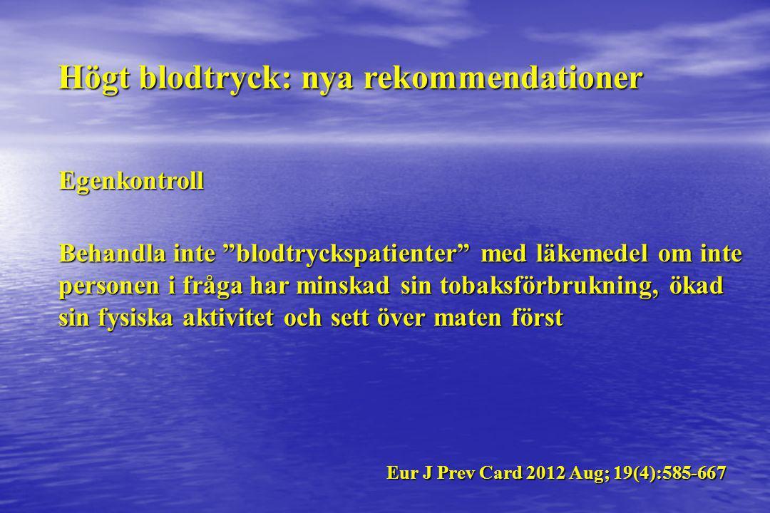 Högt blodtryck: nya rekommendationer