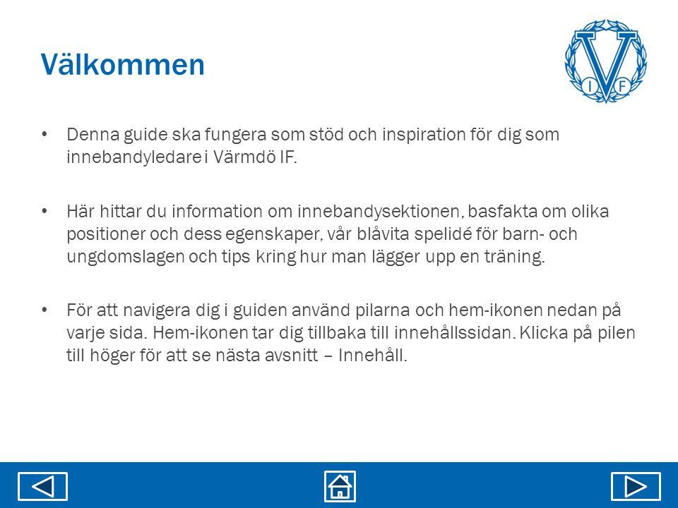 Välkommen Denna guide ska fungera som stöd och inspiration för dig som innebandyledare i Värmdö IF.