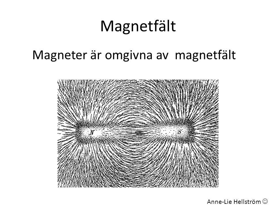 Magnetfält Magneter är omgivna av magnetfält Anne-Lie Hellström 