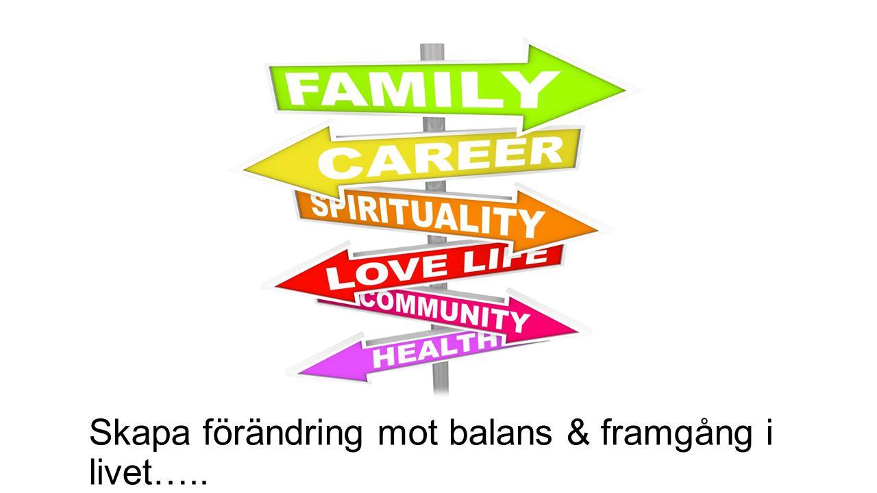 Skapa förändring mot balans & framgång i livet…..