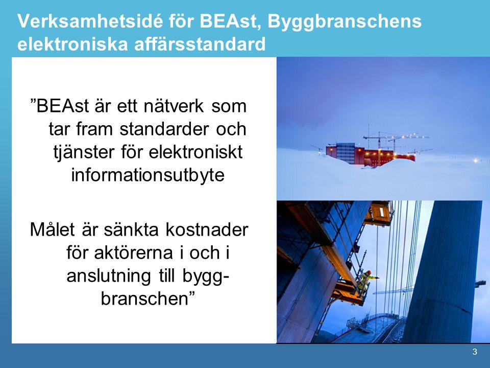 Verksamhetsidé för BEAst, Byggbranschens elektroniska affärsstandard