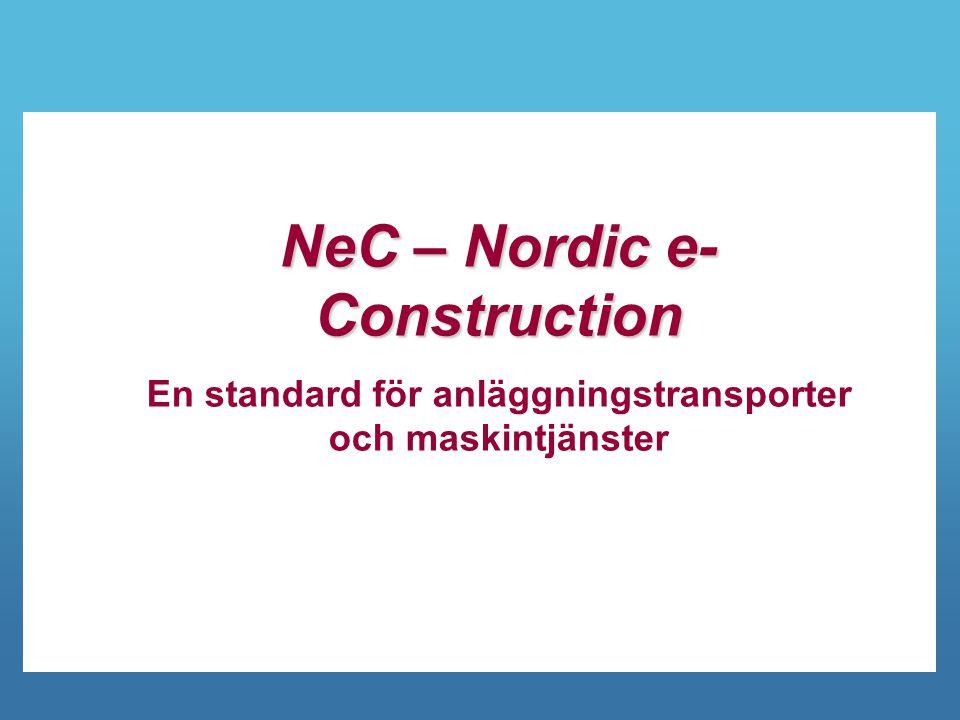 NeC – Nordic e-Construction