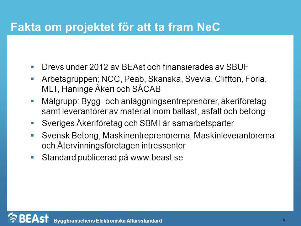 Fakta om projektet för att ta fram NeC