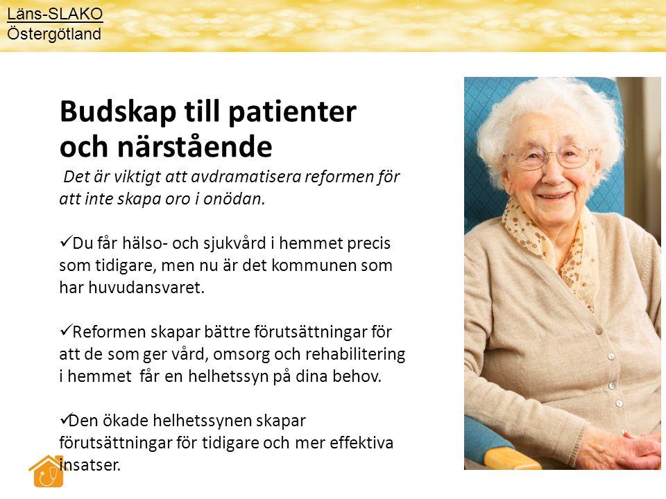Budskap till patienter och närstående