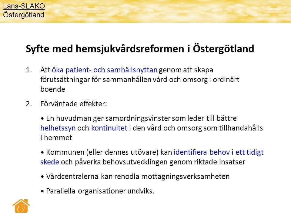 Syfte med hemsjukvårdsreformen i Östergötland