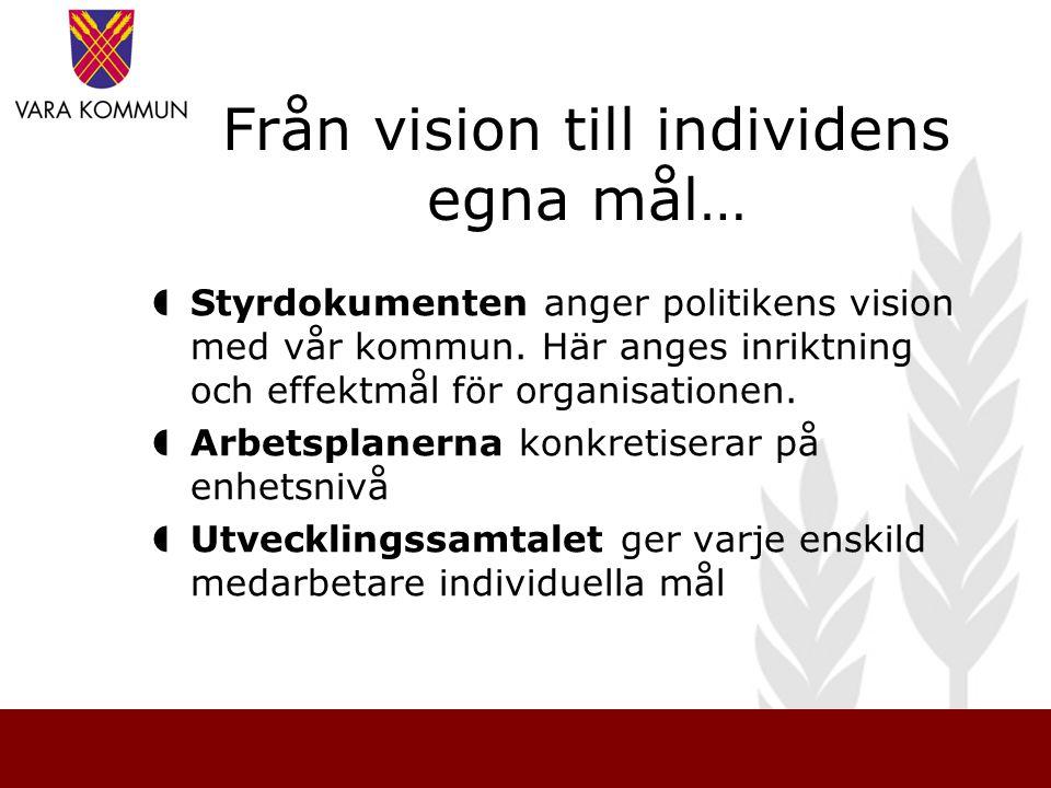 Från vision till individens egna mål…