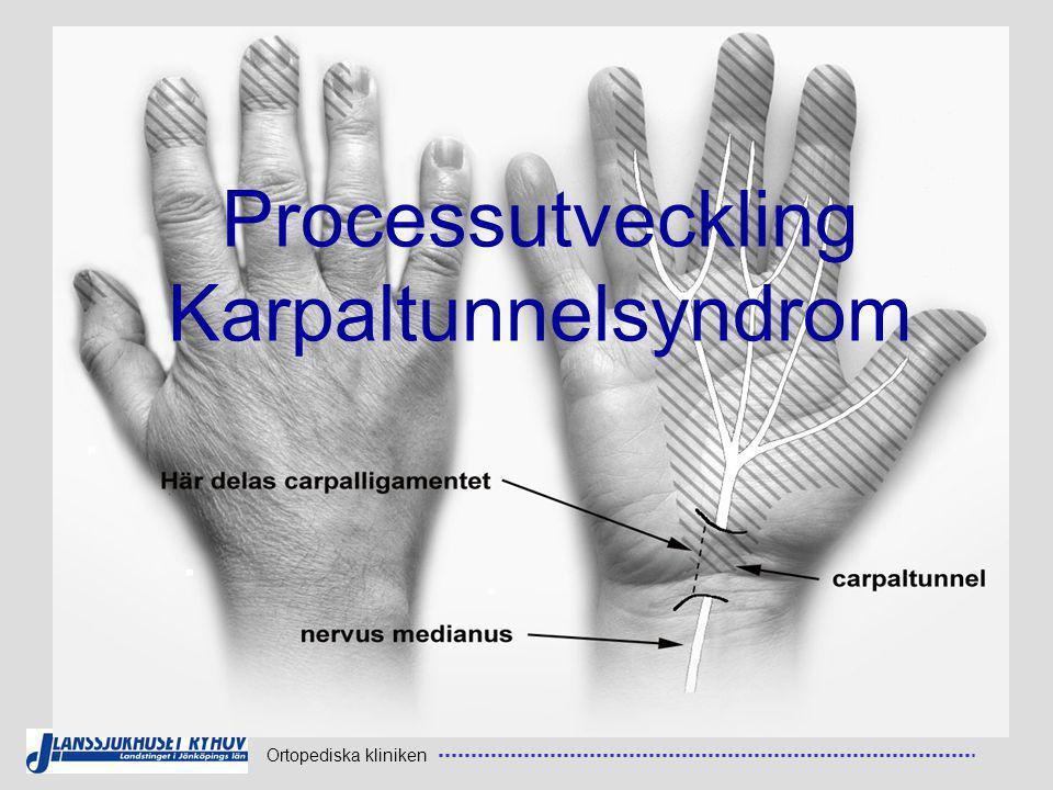 Processutveckling Karpaltunnelsyndrom