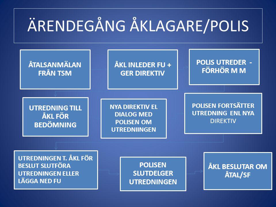 ÄRENDEGÅNG ÅKLAGARE/POLIS