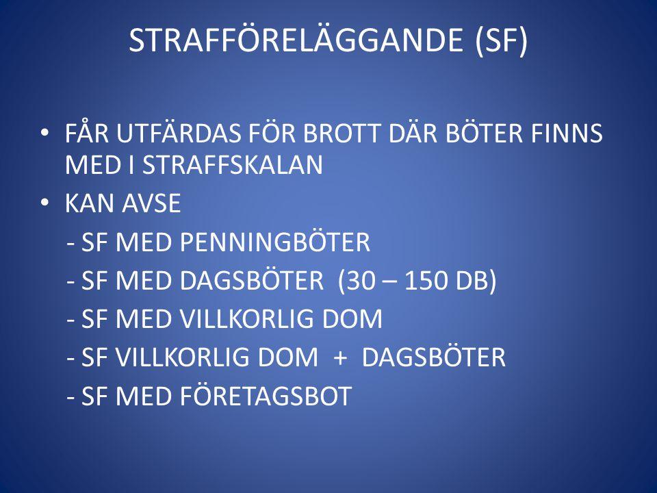 STRAFFÖRELÄGGANDE (SF)