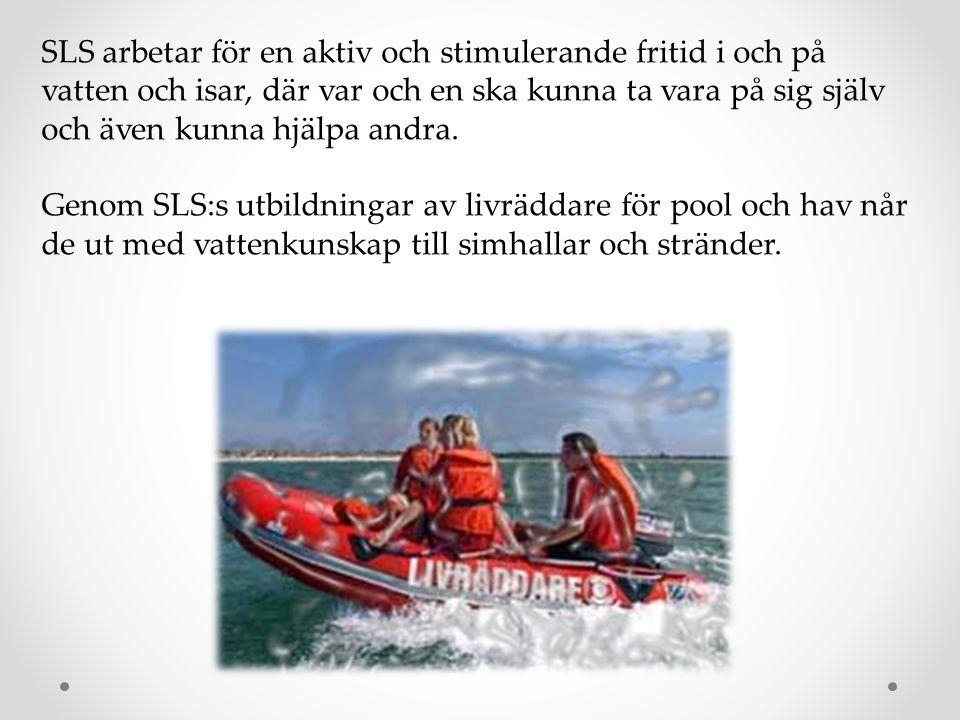 SLS arbetar för en aktiv och stimulerande fritid i och på vatten och isar, där var och en ska kunna ta vara på sig själv och även kunna hjälpa andra.