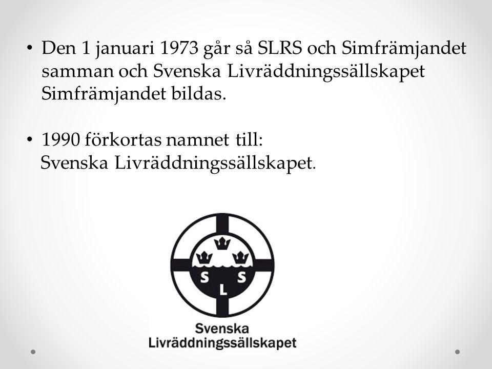 Den 1 januari 1973 går så SLRS och Simfrämjandet samman och Svenska Livräddningssällskapet Simfrämjandet bildas.