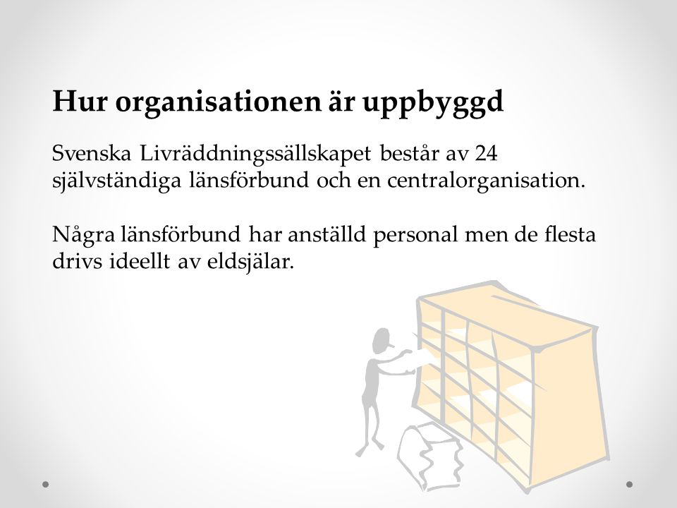 Hur organisationen är uppbyggd