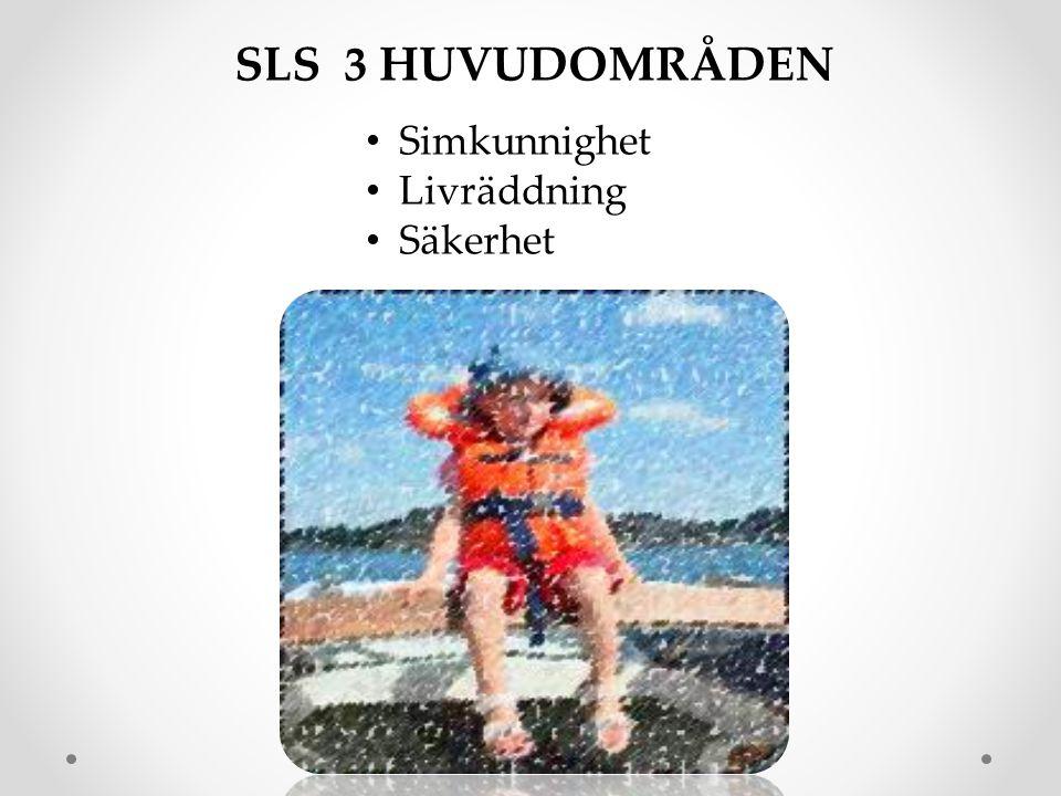 SLS 3 HUVUDOMRÅDEN Simkunnighet Livräddning Säkerhet