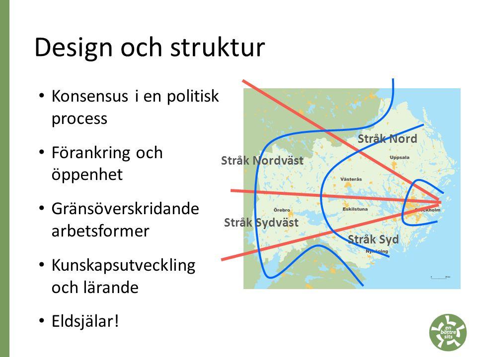 Design och struktur Konsensus i en politisk process