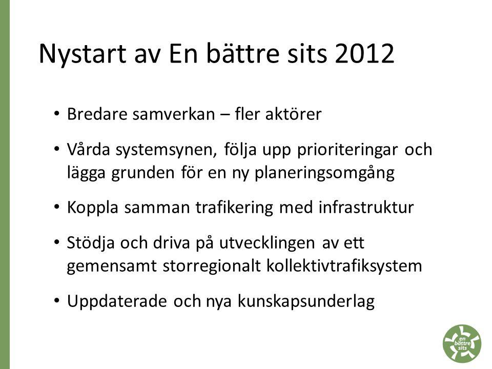 Nystart av En bättre sits 2012