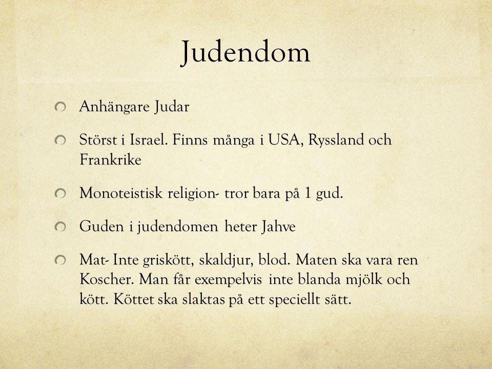 Judendom Anhängare Judar